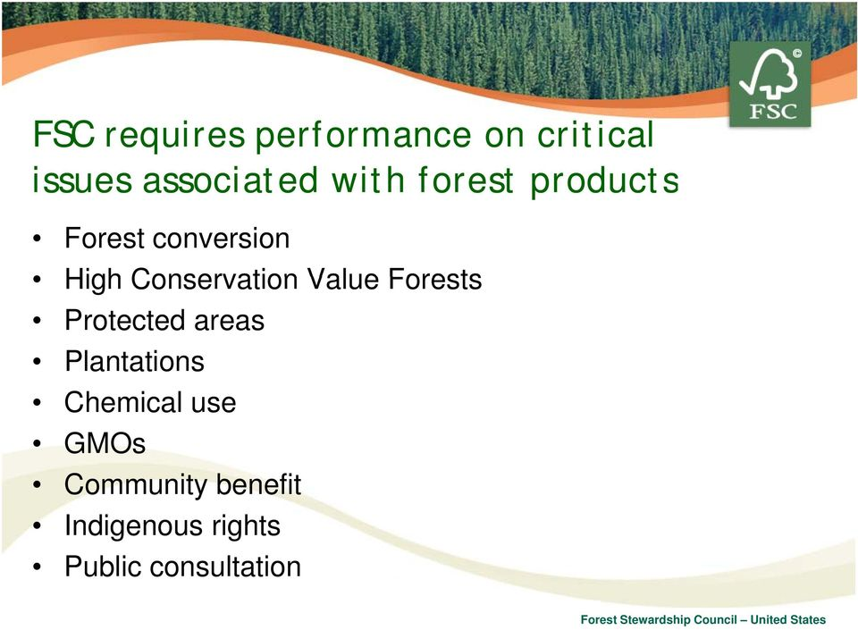 Value Forests Protected areas Plantations Chemical use