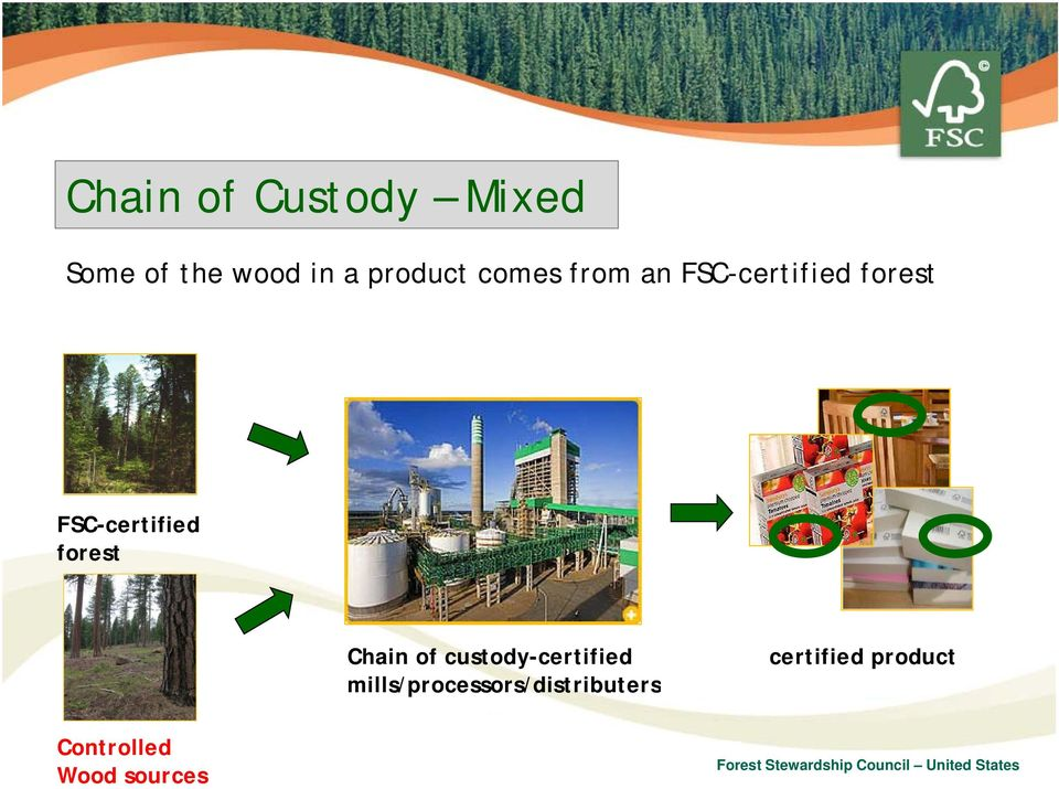 FSC-certified forest Chain of custody-certified