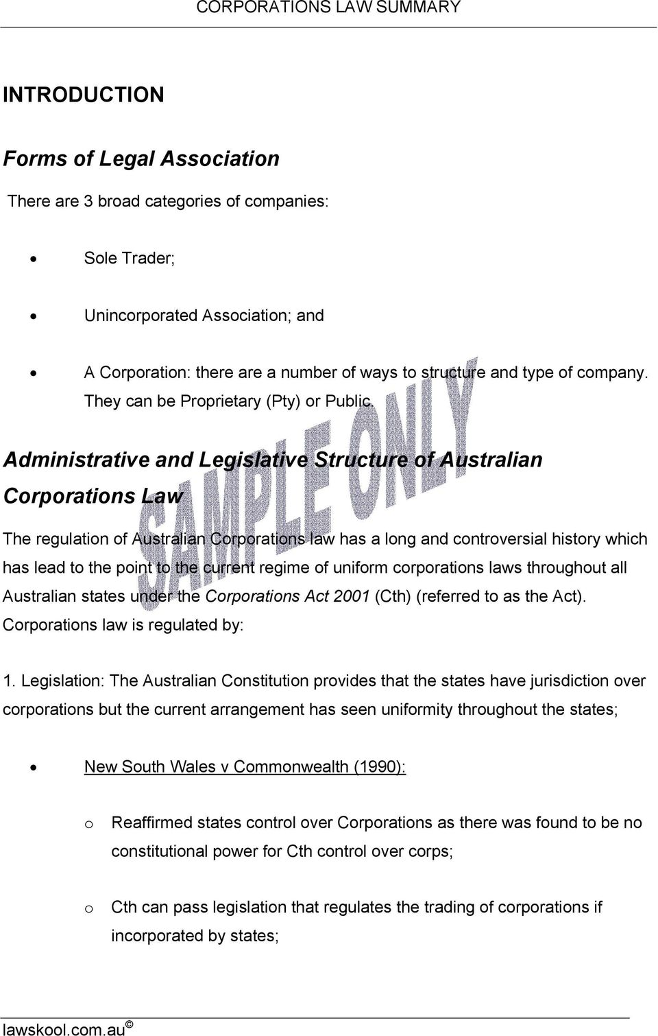 Administrative and Legislative Structure f Australian Crpratins Law The regulatin f Australian Crpratins law has a lng and cntrversial histry which has lead t the pint t the current regime f unifrm