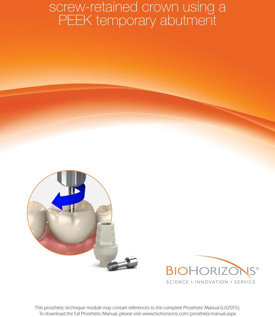 complete Prosthetic Manual (L02015).