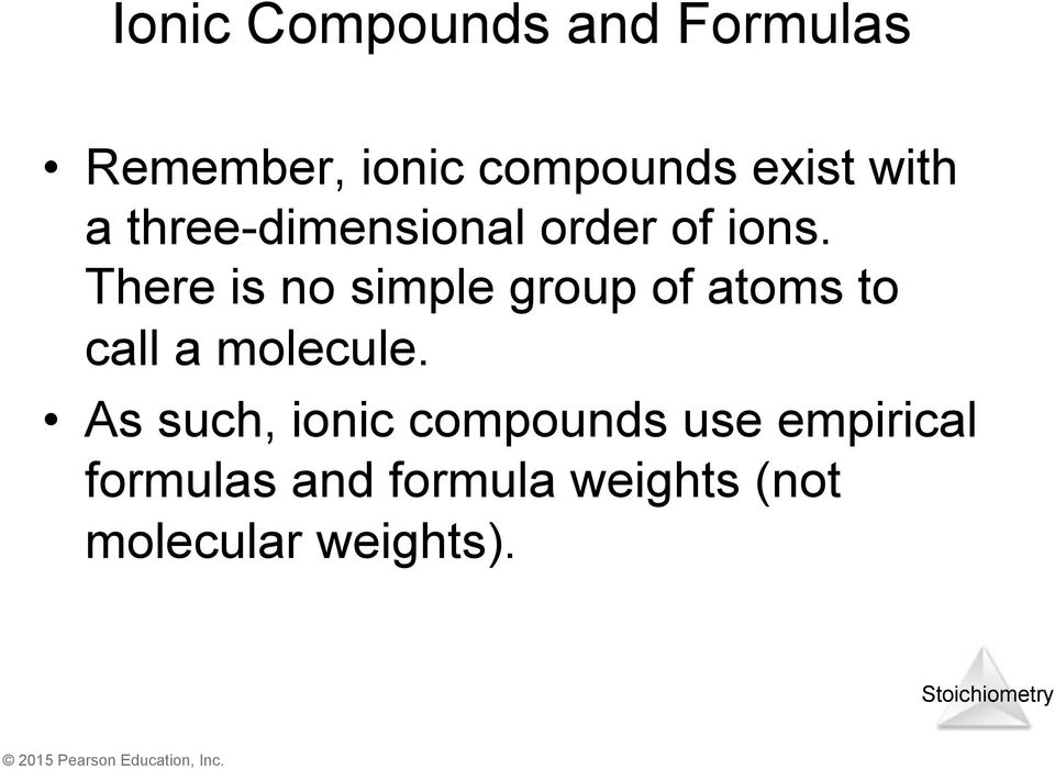 There is no simple group of atoms to call a molecule.