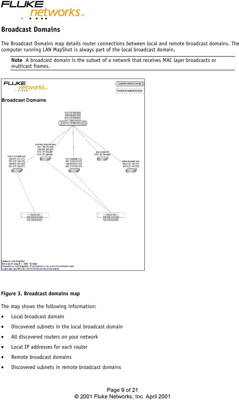 Note A broadcast domain is the subset of a network that receives MAC layer broadcasts or multicast frames. Figure 3.