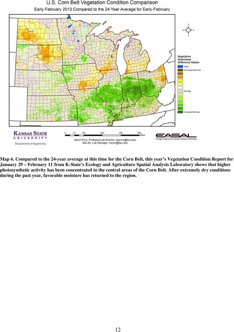 Report for January 29 February 11 from K-State s Ecology and Agriculture Spatial Analysis Laboratory