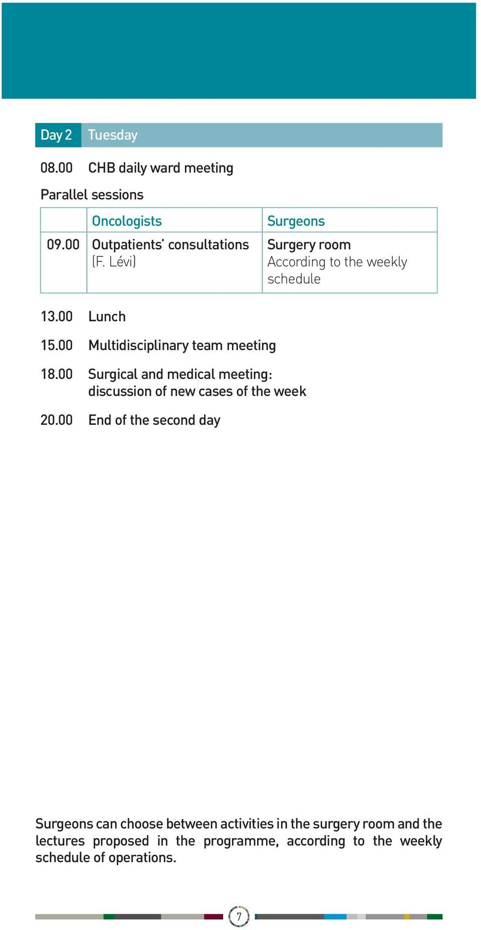 00 Surgical and medical meeting: discussion of new cases of the week 20.