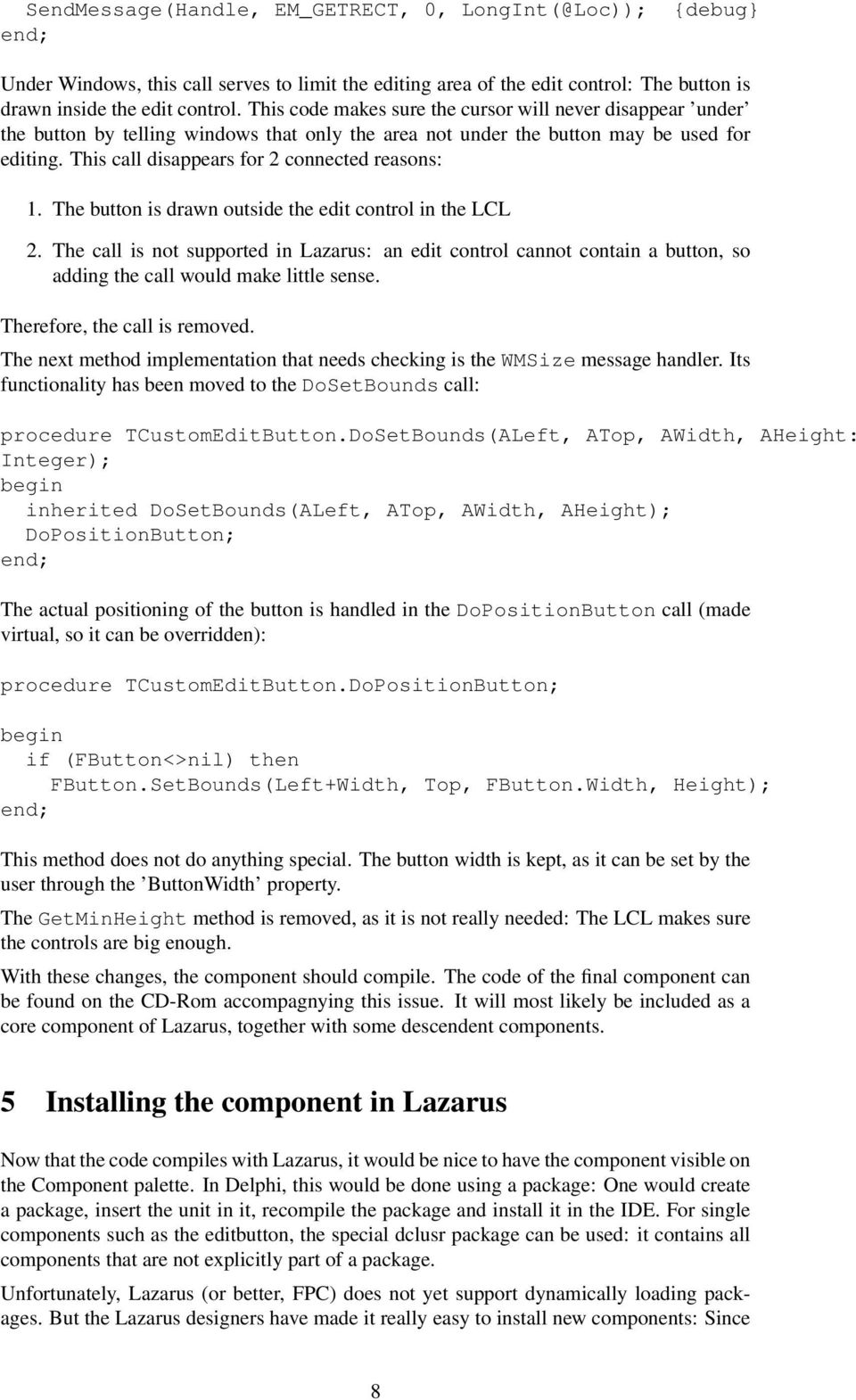 1 Porting Delphi Components to Lazarus - PDF