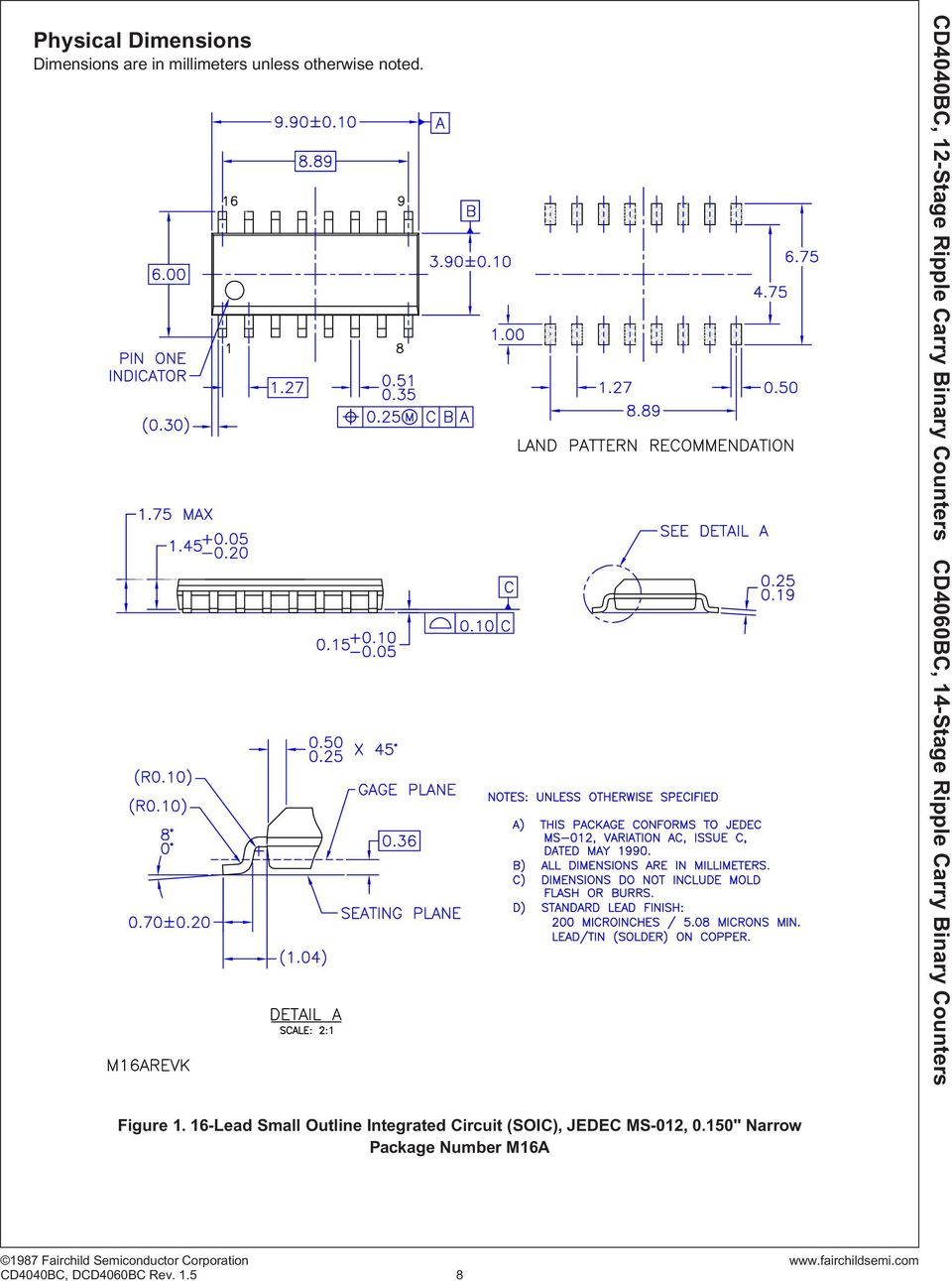 16-Lead Small Outline Integrated Circuit (SOIC),