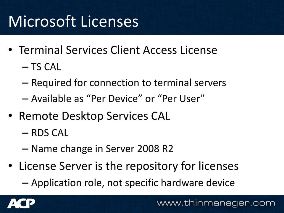 Remote Desktop Services CAL RDS CAL Name change in Server 2008 R2 License