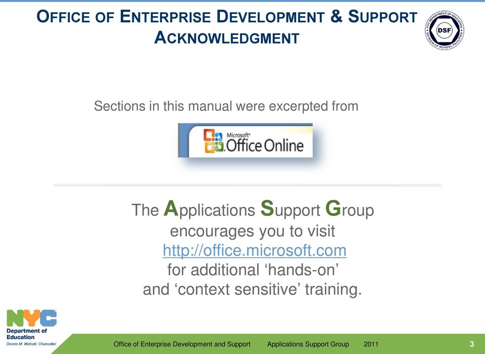 Support Group encourages you to visit http://office.