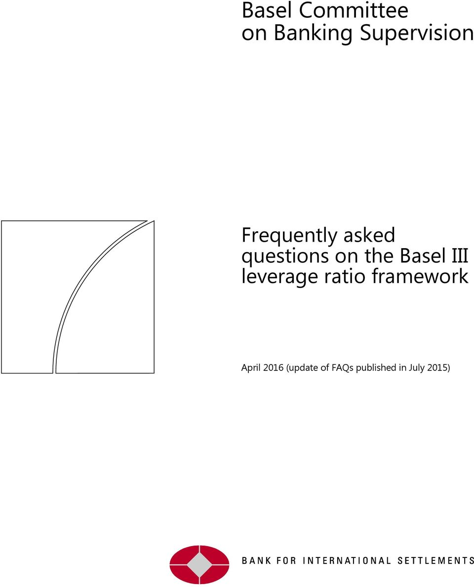 III leverage ratio framework April 2016