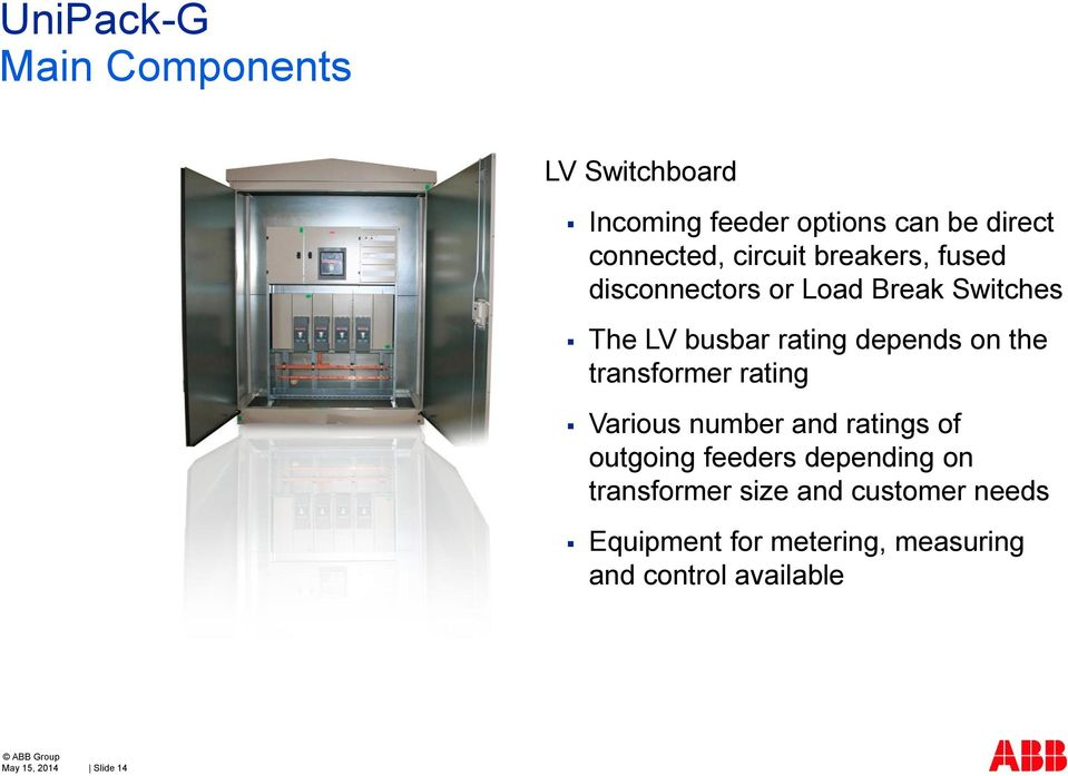 transformer rating Various number and ratings of outgoing feeders depending on transformer