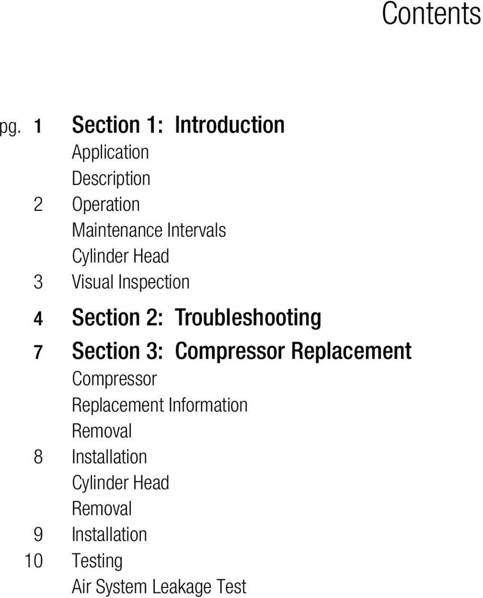 Section 3: Compressor Replacement Compressor Replacement Information Removal 8