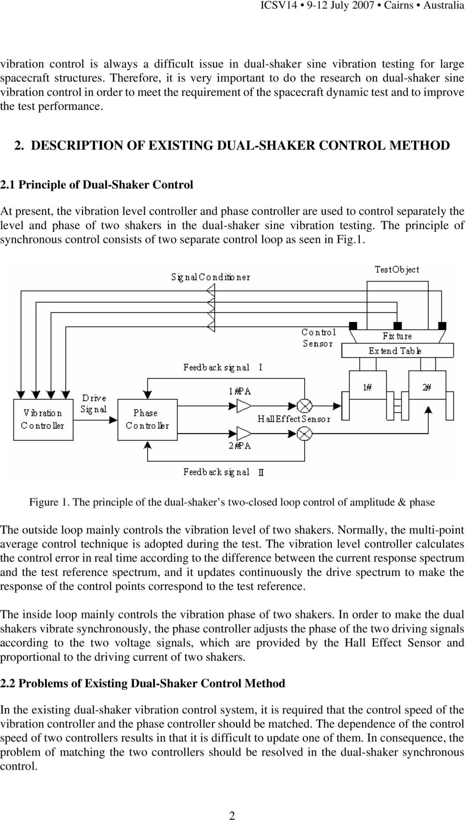 . DESCRIPTION OF EXISTING DUAL-SHAKER CONTROL METHOD.