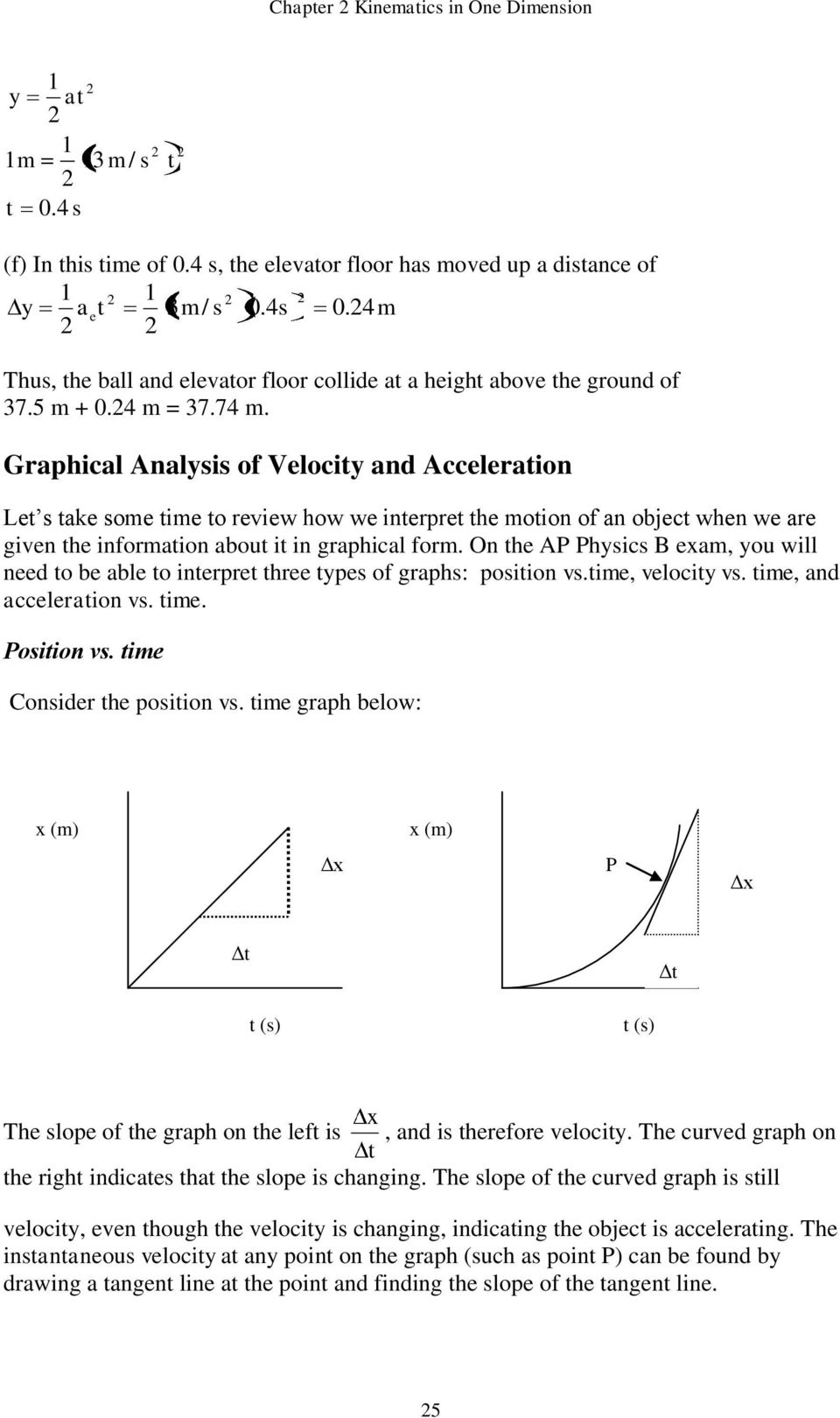 Graphical Analysis of Velociy and Acceleraion Le s ake some ime o reiew how we inerpre he moion of an objec when we are gien he informaion abou i in graphical form.