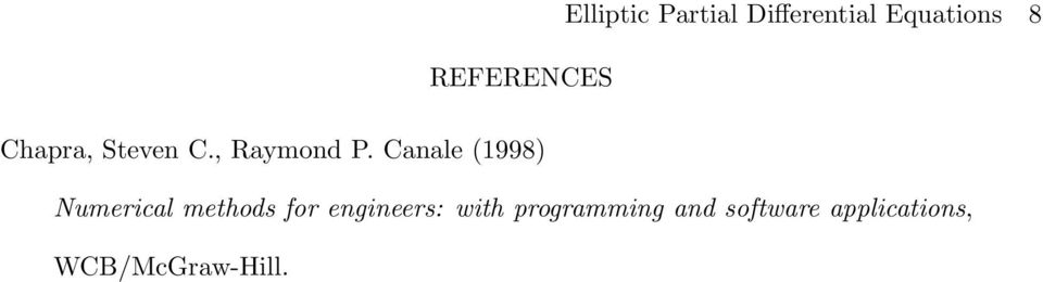 Canale (1998) Numerical methods for engineers: