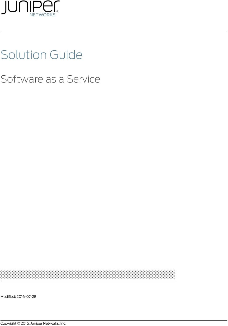Solution Guide  Software as a Service  Modified: Copyright