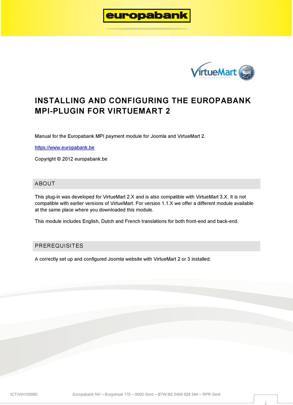 INSTALLING AND CONFIGURING THE EUROPABANK MPI-PLUGIN FOR VIRTUEMART