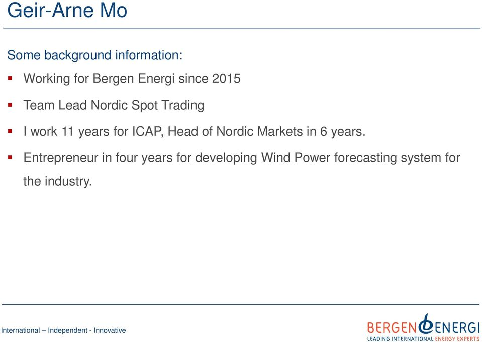 for ICAP, Head of Nordic Markets in 6 years.