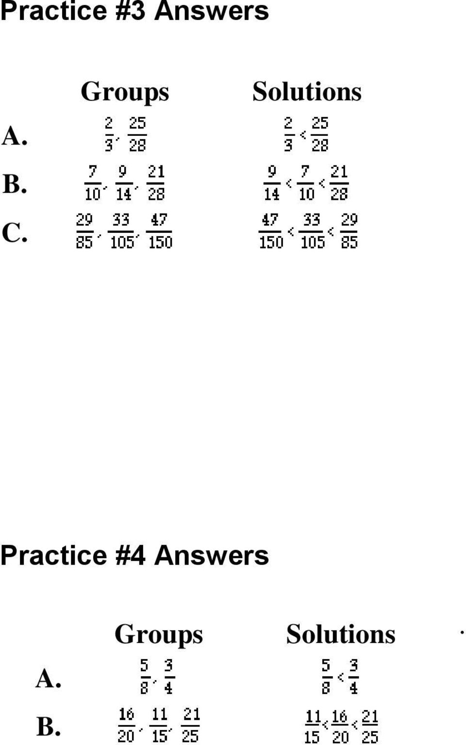 Practice #4 Answers A.