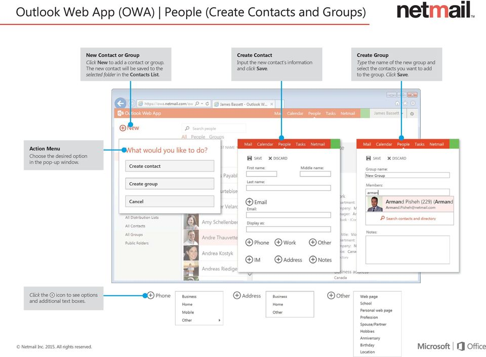 Create Contact Input the new contact s information and click Save.