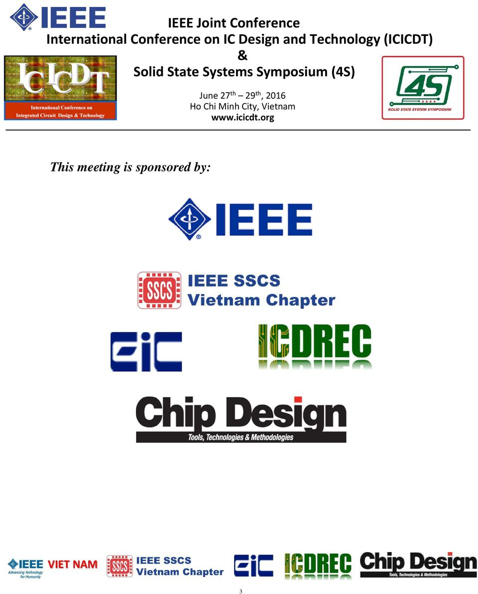 Ieee Joint Conference International On Ic Design And Integrated Circuit Basic Tutorial 4 Program Monday June 27 Th 30am 1030am 1 Device Interactions For Nonvolatile Memory In Iot Era Prof