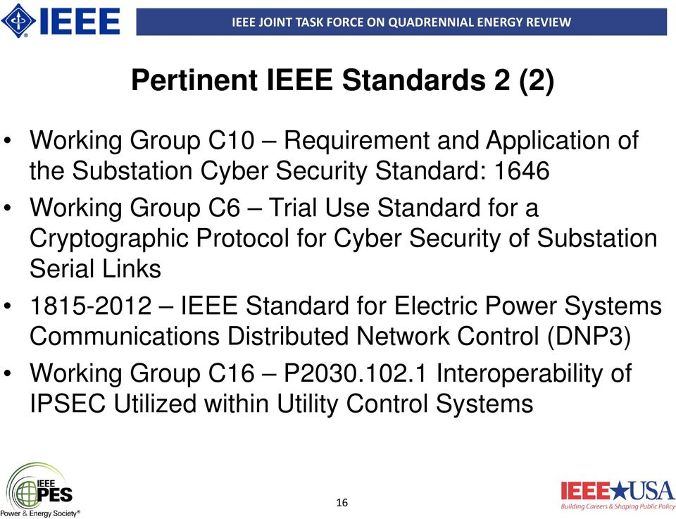 of Substation Serial Links 1815-2012 IEEE Standard for Electric Power Systems Communications Distributed