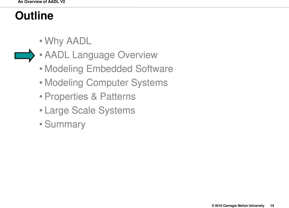 sae aadl v2  an overview