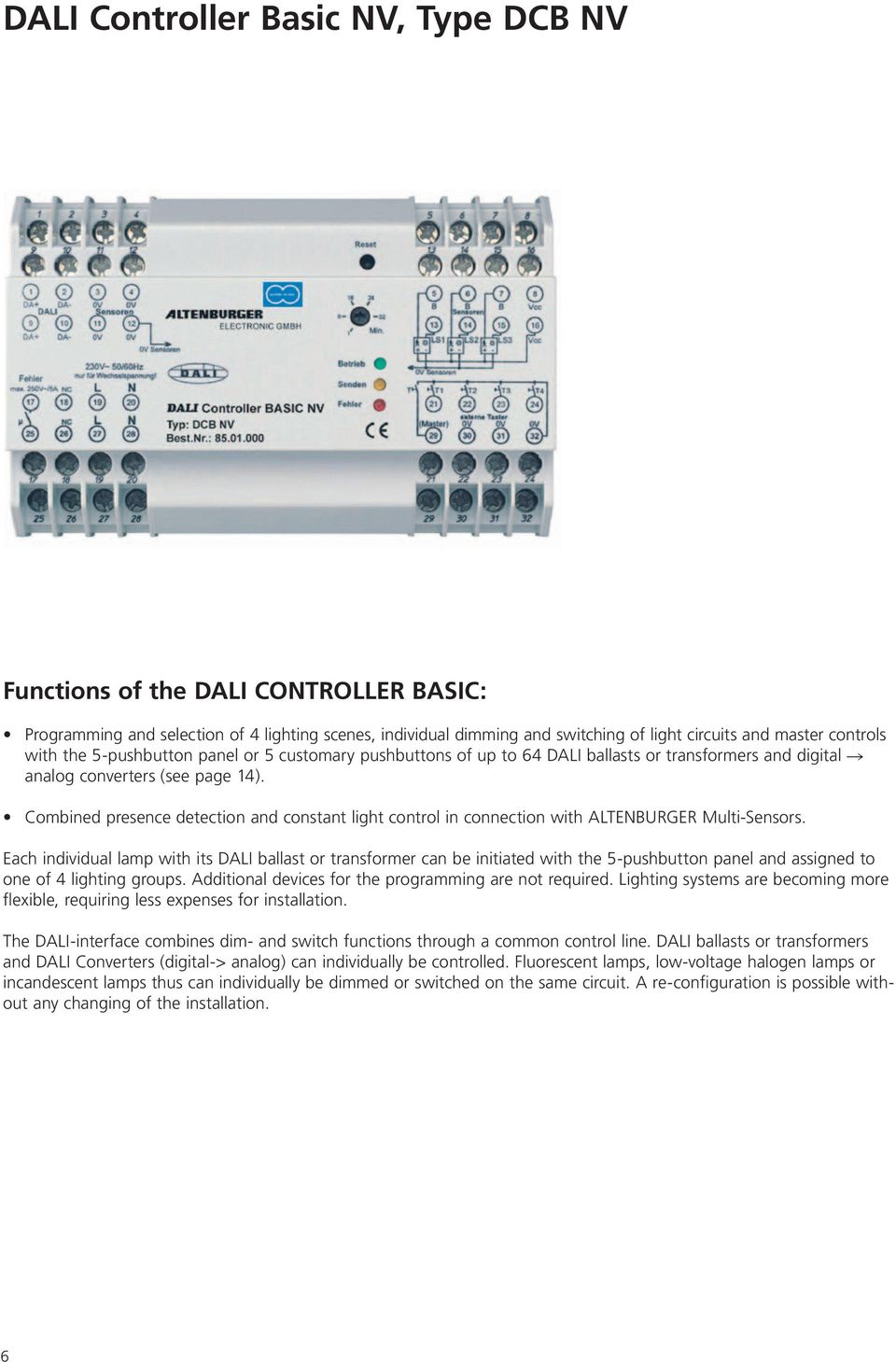 Altenburger Digital Lighting Controls Pdf Additionally Light Ballast Wiring Diagram On 0 10v Dimming Led Combined Presence Detection And Constant Control In Connection With Ateburger Multi Sensors
