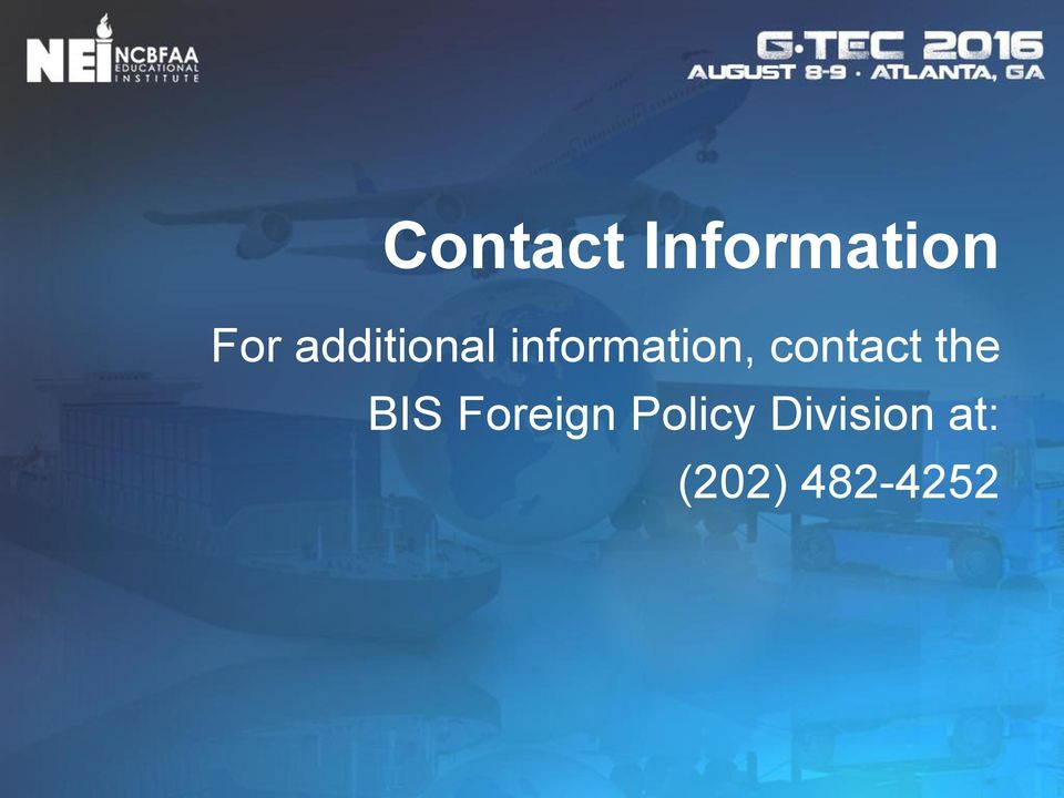 contact the BIS Foreign