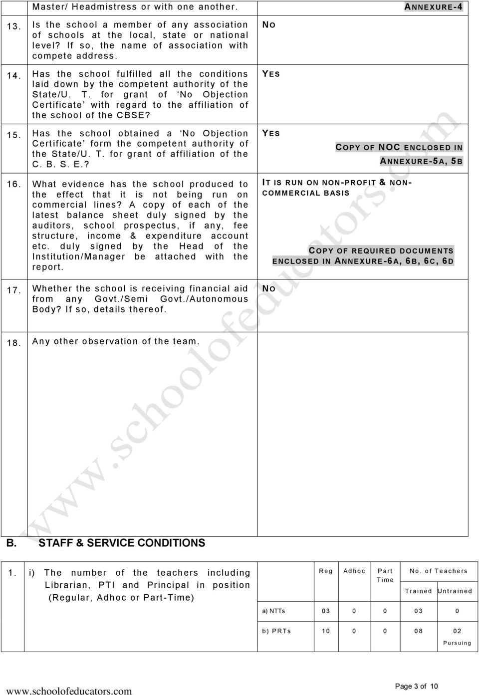INSPECTION REPORT PROFORMA FOR - PDF