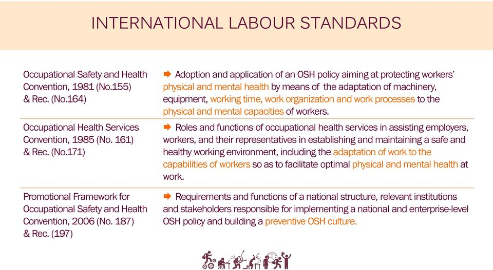(197) Adoption and application of an OSH policy aiming at protecting workers physical and mental health by means of the adaptation of machinery, equipment, working time, work organization and work