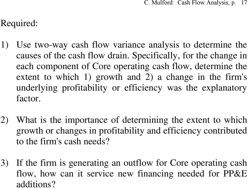 profitability or efficiency was the explanatory factor.
