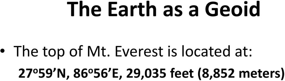 Everest is located at: 27