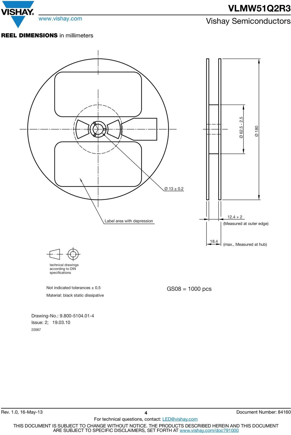 , Measured at hub) technical drawings according to DIN specifications Not indicated