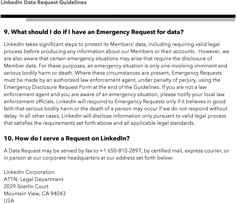 Hwever we are als aware that certain emergency situatins may arise that require the disclsure f Member data.
