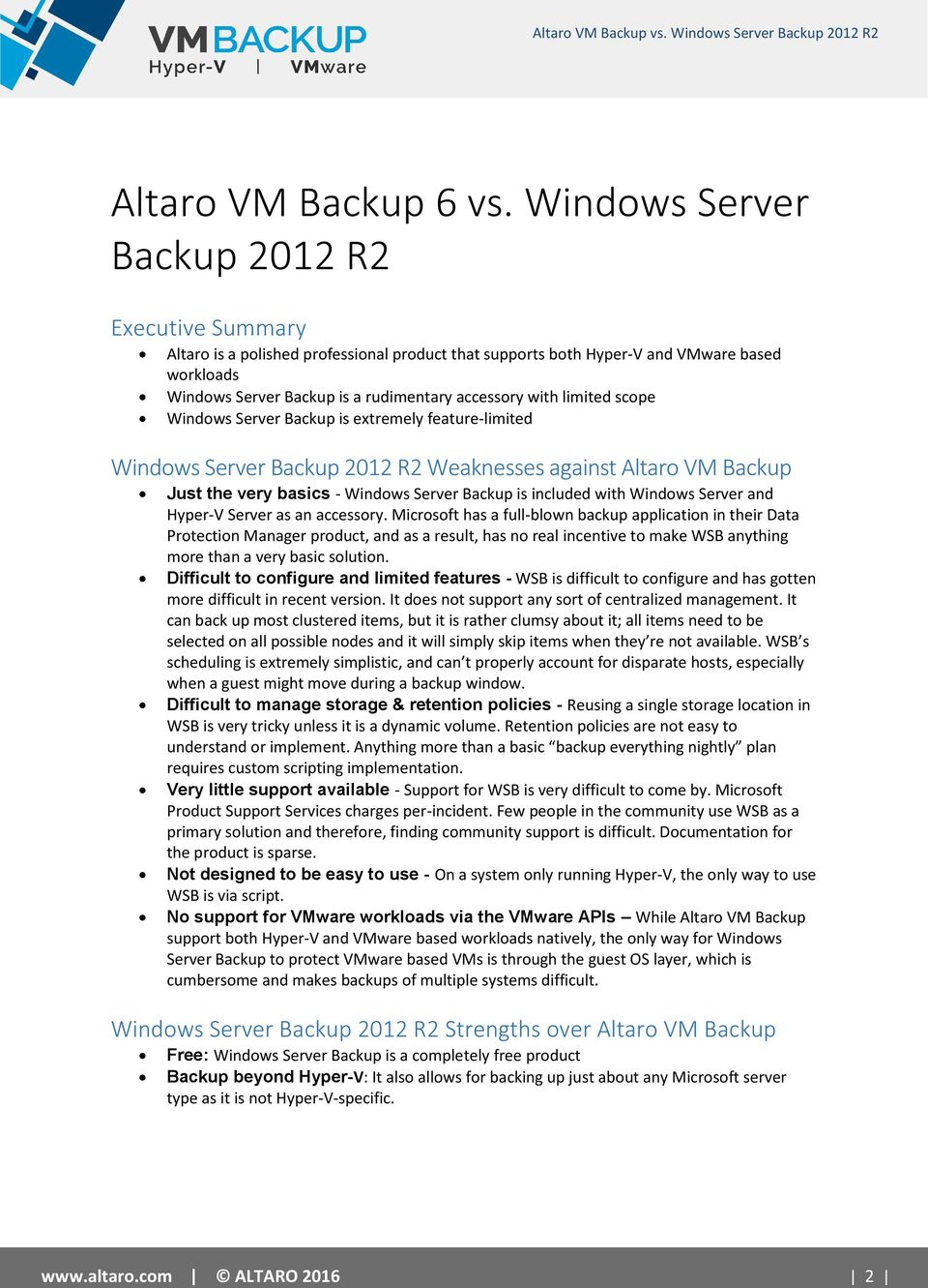 free windows server backup