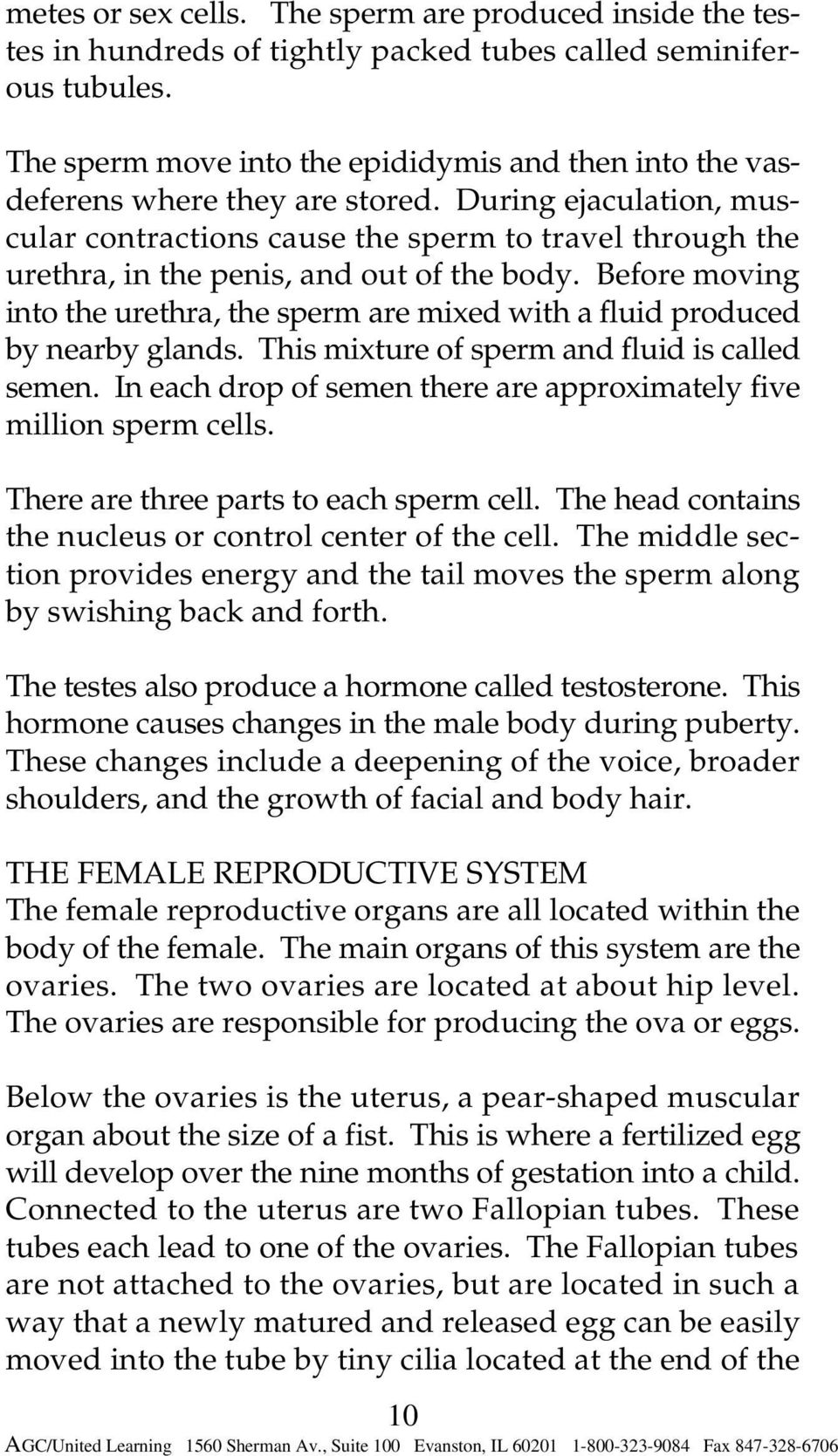 During ejaculation, muscular contractions cause the sperm to travel through the urethra, in the penis, and out of the body.