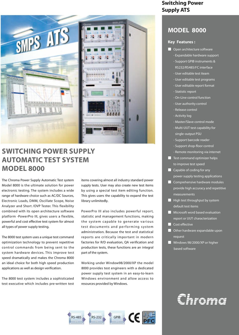 Switching Power Supply Automatic Test System Model Pdf Antec Atx12v Tester Multi Uut Capability For Single Output Psu Support Barcode Reader