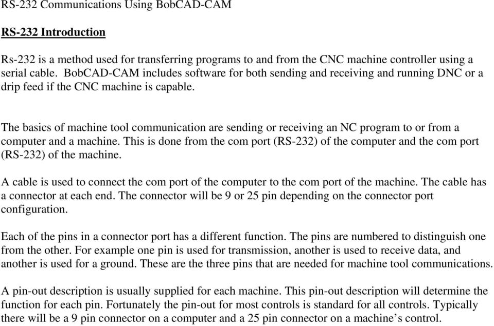 The basics of machine tool communication are sending or receiving an NC program to or from a computer and a machine.