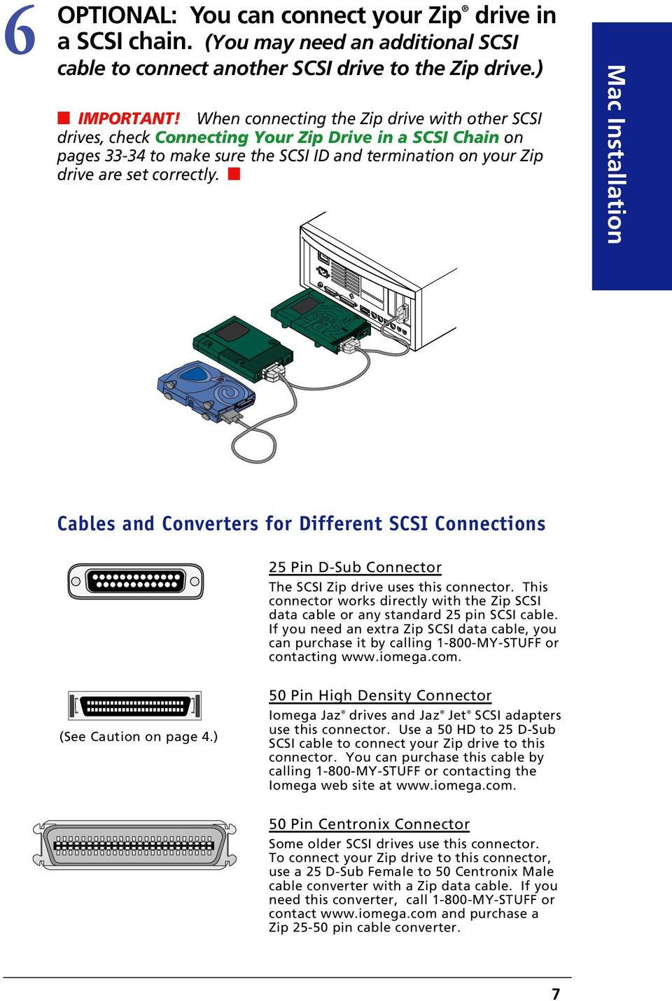 Owner S Manual Portable Scsi Drive Installation Guide User To Usb Wiring Diagram Mac Cables And Converters For Different Connections 25 Pin D Sub Connector The