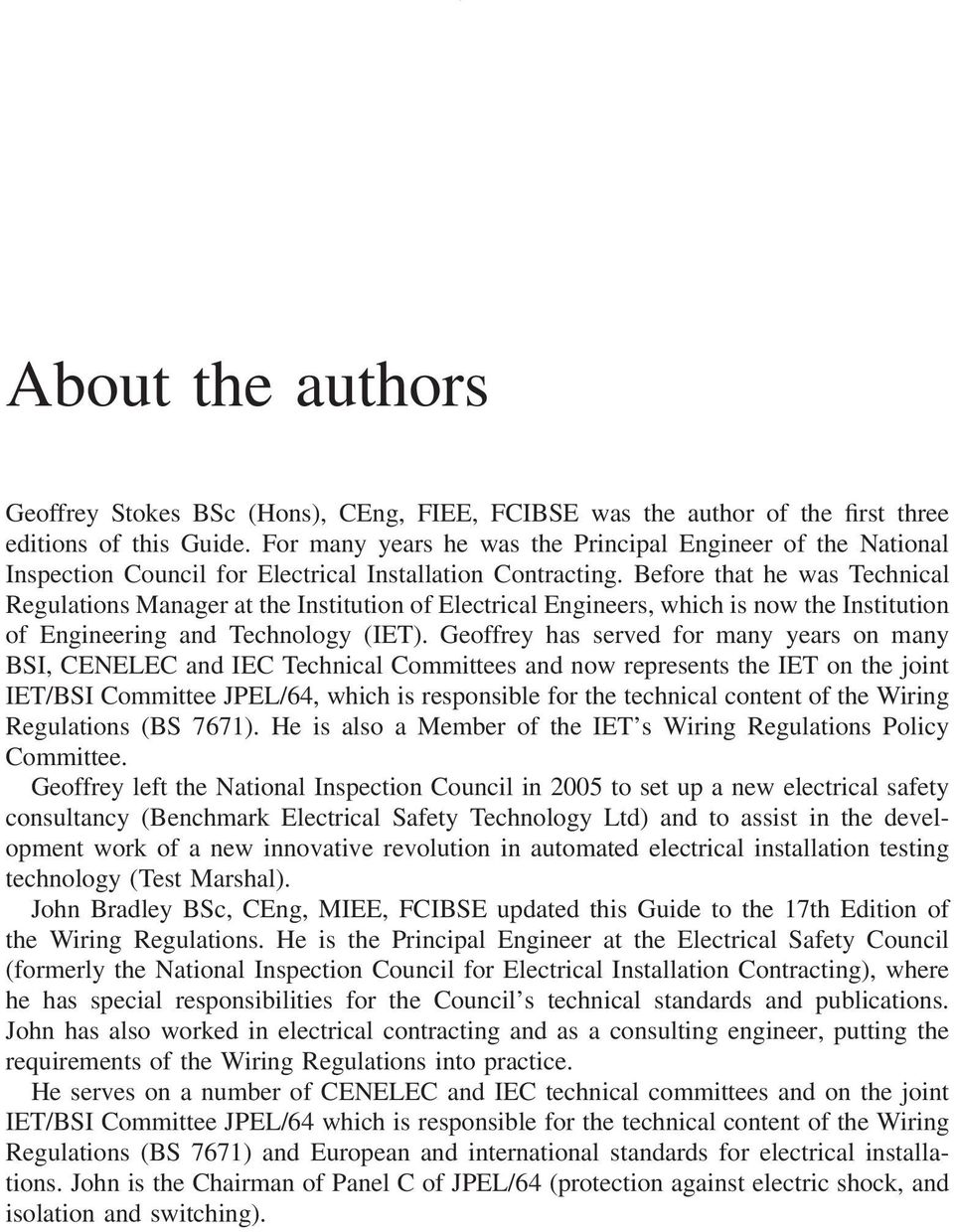 A Practical Guide To The Wiring Regulations Pdf Iet Book 17th Edition Amendment 1 Before That He Was Technical Manager At Institution Of Electrical Engineers Which Is