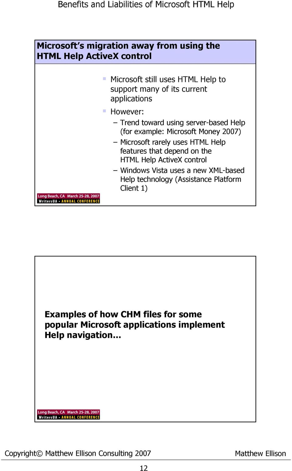 Benefits and Liabilities of Microsoft HTML Help - PDF