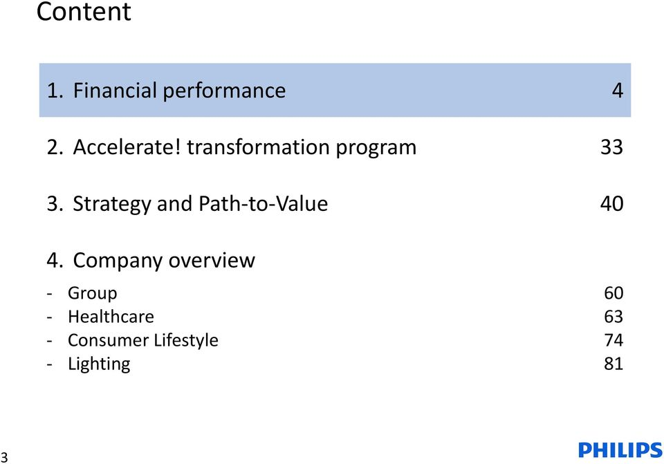 Strategy and Path-to-Value 4.
