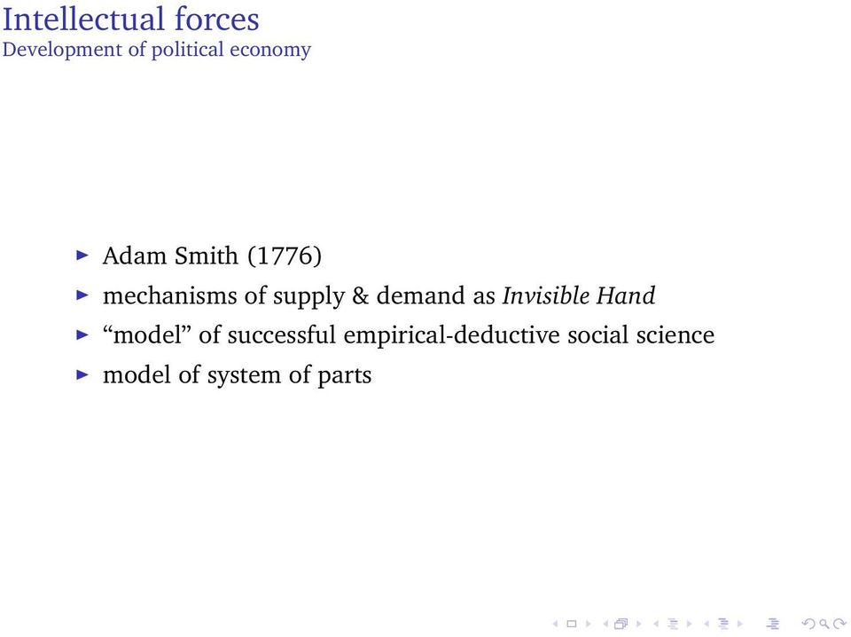 demand as Invisible Hand model of successful