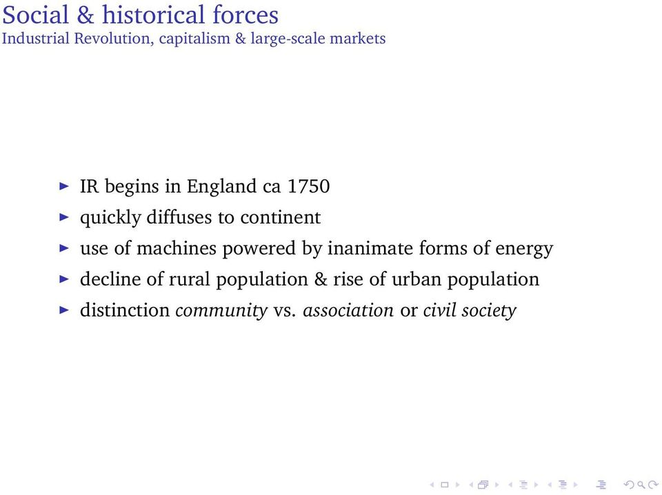 machines powered by inanimate forms of energy decline of rural population &