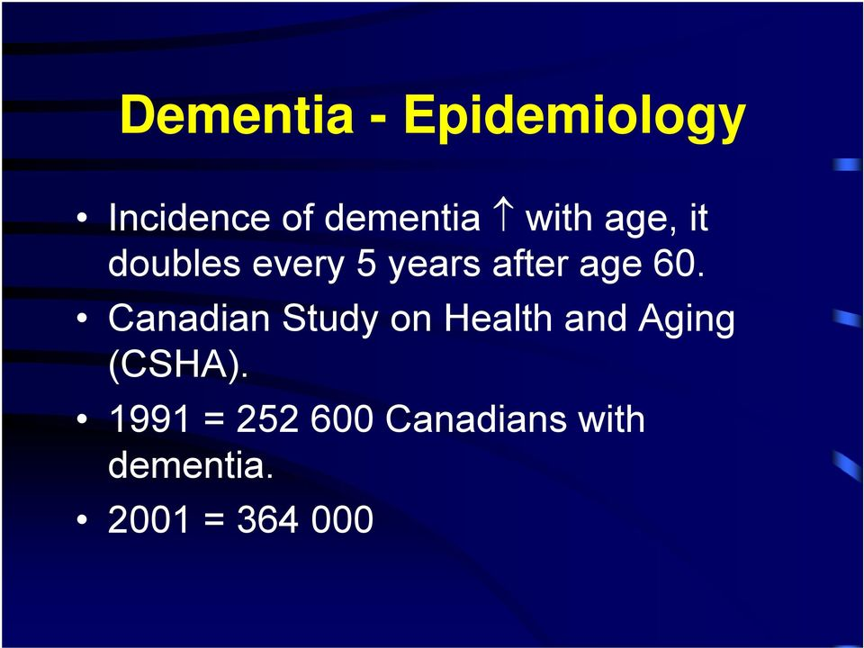 Canadian Study on Health and Aging (CSHA).