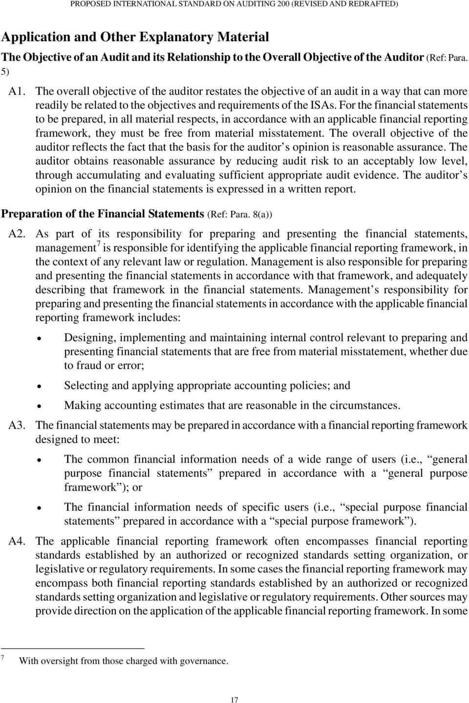 For the financial statements to be prepared, in all material respects, in accordance with an applicable financial reporting framework, they must be free from material misstatement.