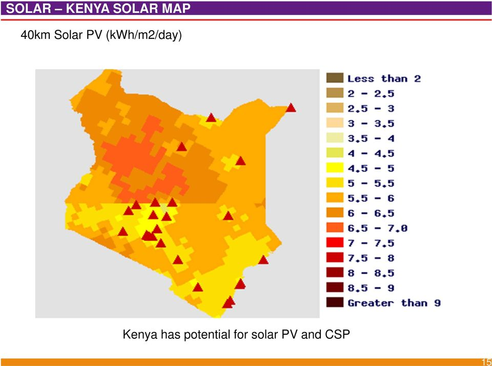 (kwh/m2/day) Kenya has