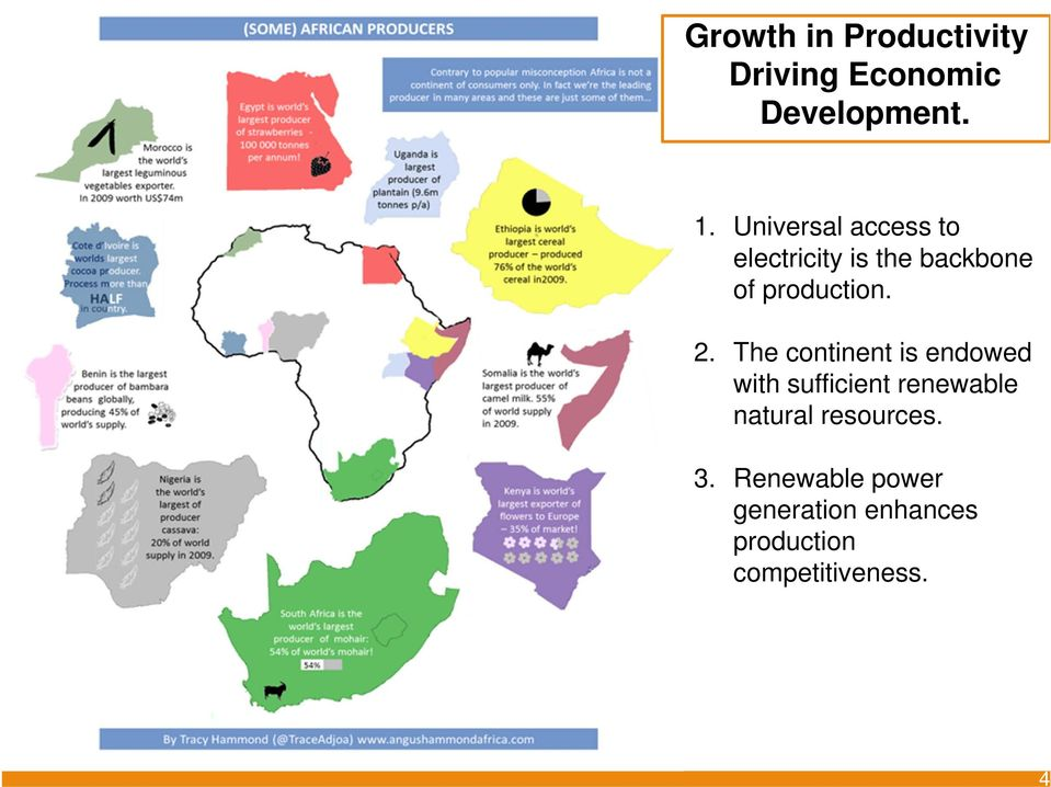 The continent is endowed with sufficient renewable natural