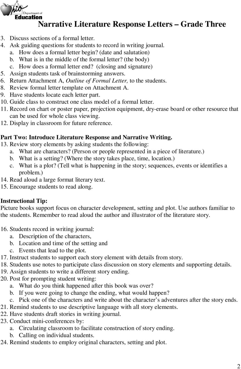 return attachment a outline of formal letter to the students 8 review