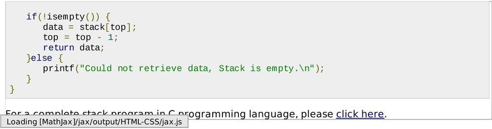 "\n""); For a complete stack program in C programming"